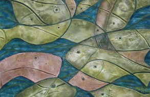 Happy Fish - Size: 40 x 31 cm • Mix Media on paper